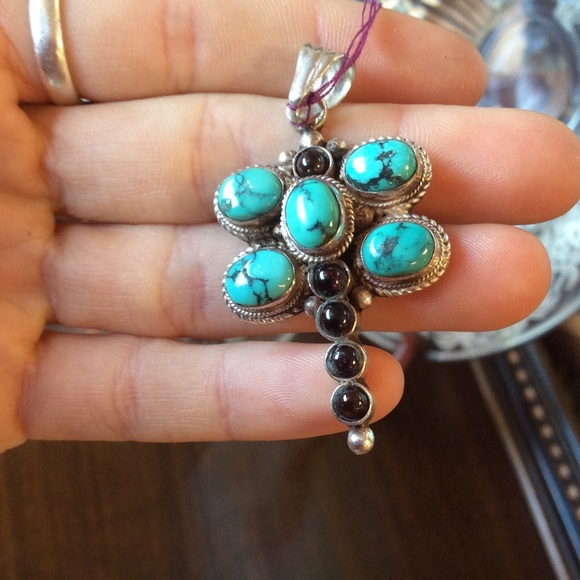 Vintage Jewelry - Stone Turquoise Silver Dragonfly Charm